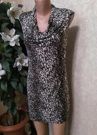 Платье туника стрейч леорард