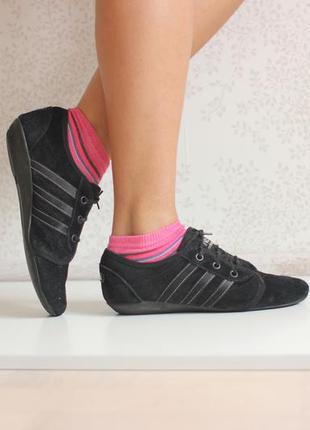 Замшевые кроссовки adidas neo