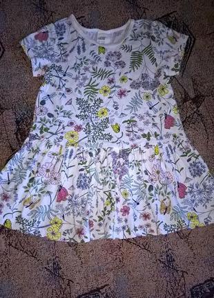 Платье туника футболка в летний принт