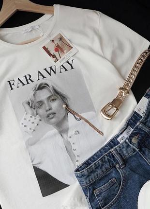 Трендовая хлопковая футболка far away
