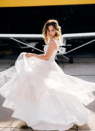 Свадебное платье цвета айвори из салона не венчанное