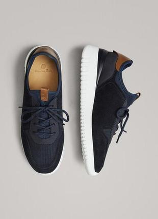 Синие замшевые кроссовки massimo dutti