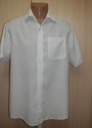 Льняная тенниска рубашка  debehams p.m лён