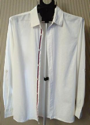 Livergy новая льняная рубашка короткий/длинный рукав, лен германия