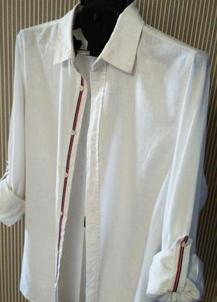 Livergy германия  новая льняная летняя рубашка короткий/длинный рукав, лен