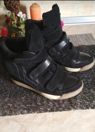 Натуральная кожа и замш, сникерсы ботинки кроссовки