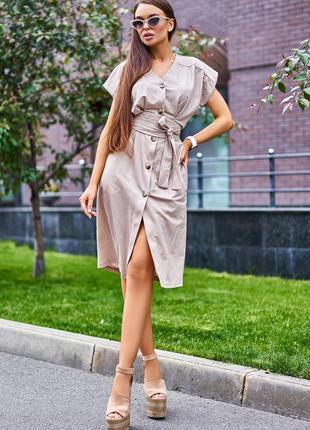 Распродажа!!! летнее платье * 100% лён * отличное качество