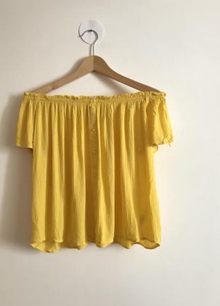 Топ блуза футболка можно с открытыми плечами вискоза