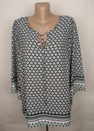 Блуза стильная легкая в орнамент george uk 18/46/xxl