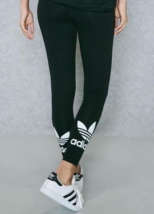 Лосины хлопковые adidas с лого внизу
