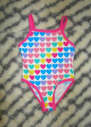 Купальник для девочки в сердечках