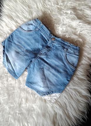 Шорты джинсовые мои с ажурными вставками от name it
