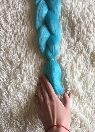 Голубой бирюзовый канекалон, искусственные волосы для косичек, прически, дредов