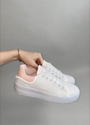 Кеды криперы кроссовки с розовым задом рефлективом