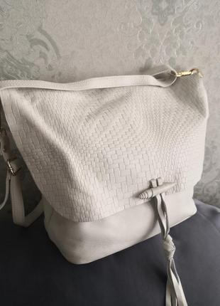 Шикарная кожаная сумка vera pelle, италия👜👜🔥🔥🏵️