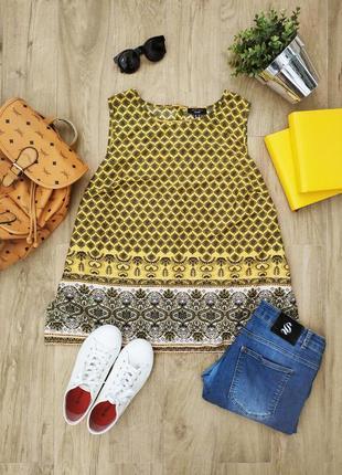 Жовта блуза-майка з гудзиками на спині new look