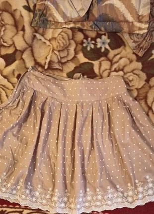 Летняя коттоновая юбка,р 18