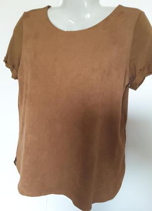 Блуза из искусственной замши
