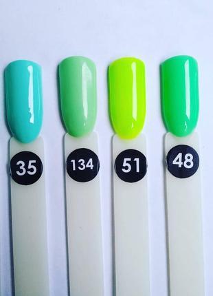 Зелёный гель-лак, неоновый, кислотный гель-лак, silicon