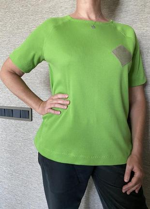 Майка тенниска футболка @don.bacon зелёная чашка кофе латте арт