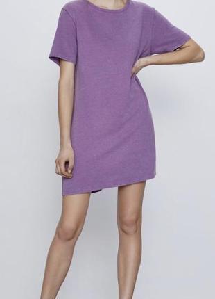 Платье zara в трендовом лиловом цвете