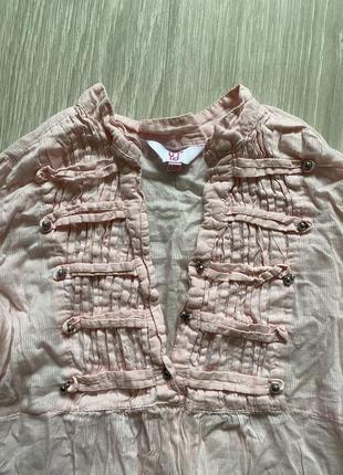 Котоновая блузка на девочку zara
