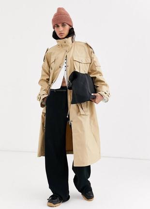 Тренч плащ пальто в стиле милитари карго asos