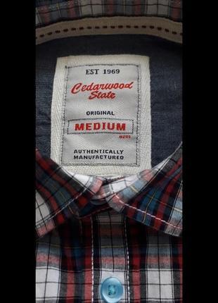 Брендовая немецкая мужская рубашка фирмы esprit,оригинал, 100%хлопок,новая