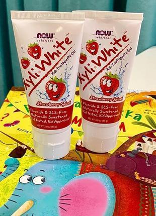 Now solutions, детская зубная паста-гель, сша.