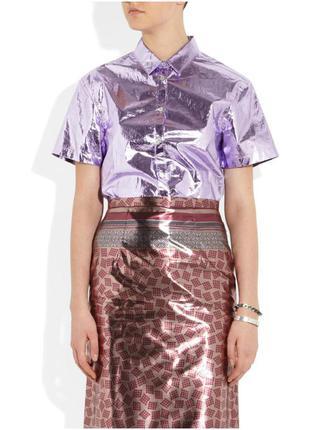 Рубашка burberry metallic coated-cotton
