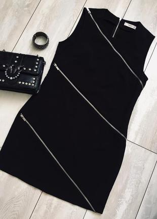 Стильное платье с молниями