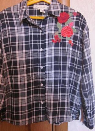 Фирменная рубашка h&m размер xs. оверсайз