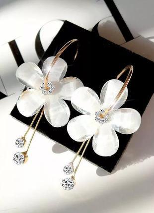 Красивые серьги цветы, серёжки