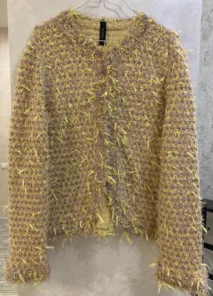 Пиджак жакет кардиган бренда marc cain. размер 5, m-l.