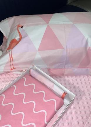 Комплект постельного белья - фламинго