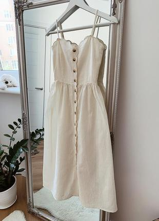 Шикарное белое платье h&m