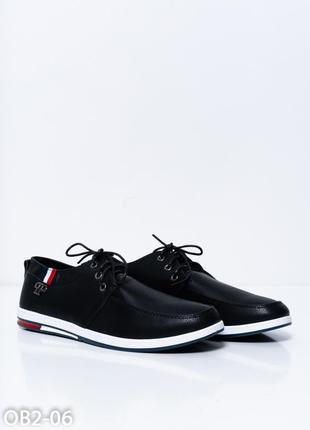 Черные мужские спортивные туфли из эко-кожи 42 размер!!!