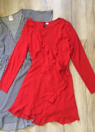 Лёгкое красное платье h&m
