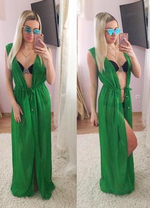 Модная женская пляжная накидка. разные расцветки