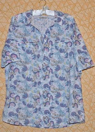 👚хлопковая блуза туника в деревенском стиле тм 'tu' р-р 20 uk, 54-56 rus