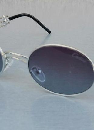 Очки женские солнцезащитные стильные брендовые овальные в стиле cartier серые