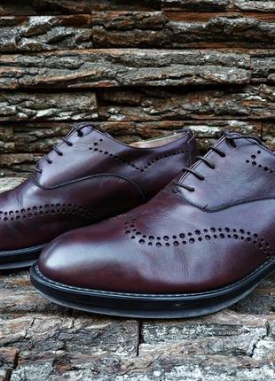 Оксфорды z zegna 42 42.5 размер туфли мужские италия кожа