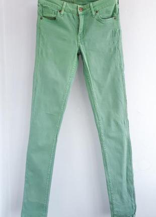 Мятные джинсы h&m