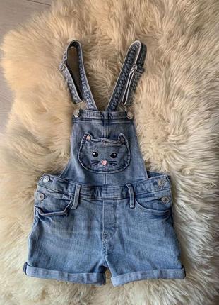 Джинсовий комбінезон шорти h&m, 7/8 років(можна раніше), одягнений 1 раз, стан нового