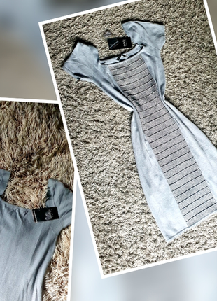Прекрасне сіро-срібне плаття для стрункої панянки
