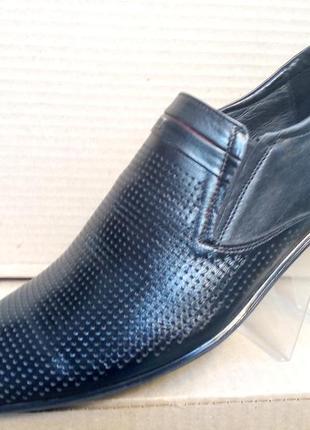 Туфли кожа с перфорацией