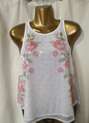 Нежная нарядная блуза американского бренда