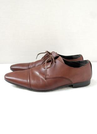 Стильные фирменные классические кожаные туфли burton. размер uk10/ eur44.