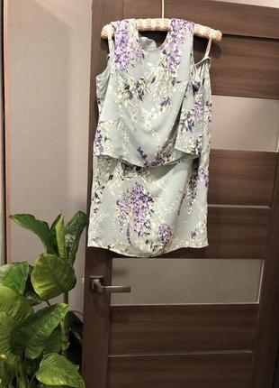 Костюм платье в цветочный принт bhs 14