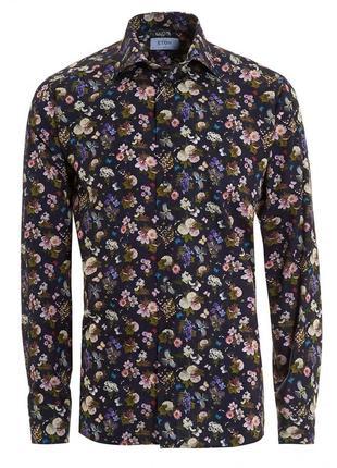 Хлопковая рубашка в цветы eton. этон